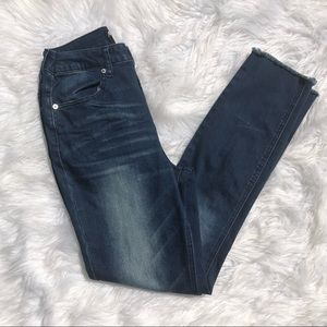 Nasty gal high waisted distressed skinny jeans 27